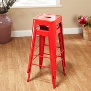 TMS Avalon 30'' Bar Stool (Set of 2); Red