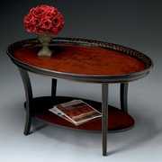 Butler Deidre Coffee Table; Traditional Red & Black