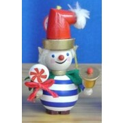PinnaclePeak Steinbach Striped Twinkle the Elf w/ Bell German Wood Christmas Ornament