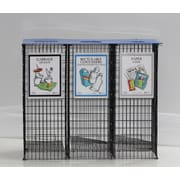 EasySorter Mini 30-Gal 3 Stream Recycling Container; No Lid