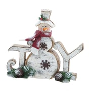 Evergreen Flag & Garden Snowman Statuary Christmas Decoration