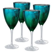 Artland Peacock Wine Glass (Set of 4)