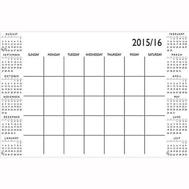 Wall Pops Dry Erase Academic Calendar, Aug-July, White