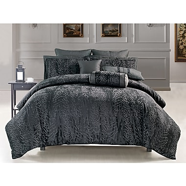 Highland Feather Leopard Duvet Cover Ensemble