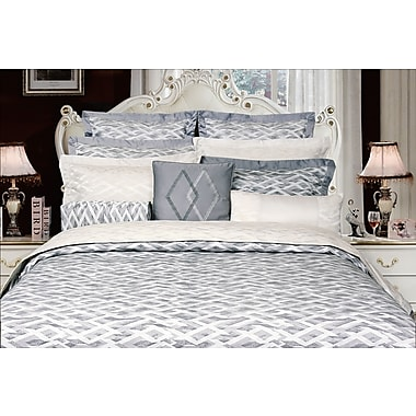 Highland Feather Charcoal Vienna Duvet Cover Set