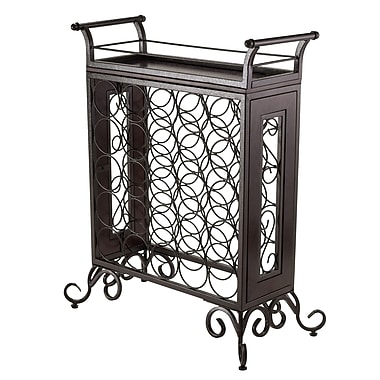 Winsome Silvano Wine Rack with Removable Tray, 5x5, Dark Bronze