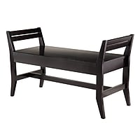 Marvin Bench with Side Angle Panel (Espresso)