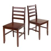 Winsome Ladder Back Chairs, Antique Walnut, Set of 2  (94236)