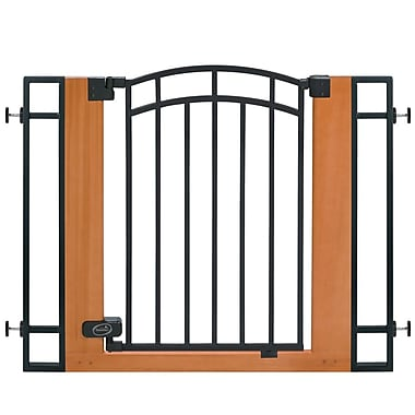 Summer Infant Stylish & Secure™ Metal and Wood Walk Thru Gate