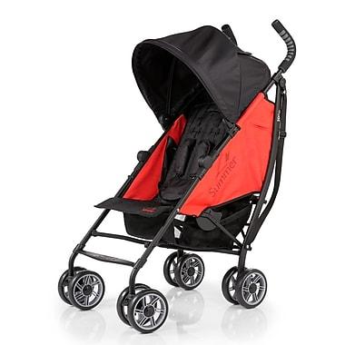 Summer Infant 3D Flip Convenience Stroller, Black & Frey Red