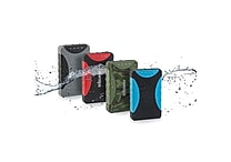 10,000 mAh Water Resistant Power Bank With Dual Outputs, Assorted Colors
