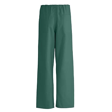 Medline AngelStat Unisex Medium Reversible Drawstring Scrub Pants, Hunter Green (600NHGM-CA)