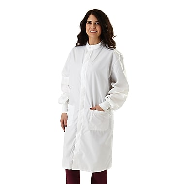 Medline ASEP Unisex Large Full Length Barrier Lab Coat, White (6620BLHL)
