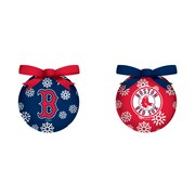 Team Sports America MLB 6 Piece LED Boxed Ornament Set; Boston Red Sox