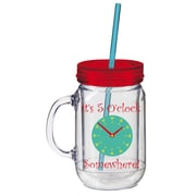 Cypress 20 oz. 5 O'Clock Somewhere Double Walled Mason Jar Insulated Cup with Straw