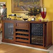 Wine Enthusiast Companies Siena 28 Bottle Dual Zone Freestanding Wine Refrigerator; Walnut