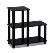 Furinno Turn-N-Tube 19.9'' Bookcase; Espresso / Black