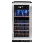 Wine Enthusiast Companies N'Finity Pro 94 Bottle Dual Zone Built-In Wine Refrigerator