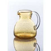 Abigails Bubble Pitcher w/ Clear Handle; Amber