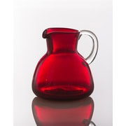 Abigails Bubble Pitcher w/ Clear Handle; Red
