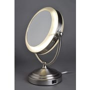 Floxite 8x/1x Lighted Vanity Mirror with Out Outlet