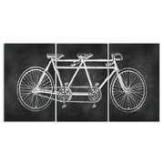 Stupell Industries Chalkboard Look Tandem Bicycle Triptych 3 Piece Graphic Art
