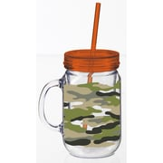 Cypress Camo Print Double Walled Mason Jar Cup