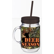 Cypress Mossy Oak 20 oz. Double Walled Acrylic Mason Jar Insulated Cup with Straw
