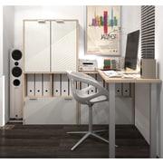 i3 by Bestar 150865-38 L-Shaped Desk, Northern Maple & Sandstone