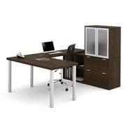i3 by Bestar 150867-78 U-Shaped Desk, Tuxedo