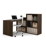 i3 by Bestar 150875-78 L-Shaped Desk, Tuxedo