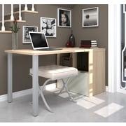 i3 by Bestar Workstation with Drawer, Northern Maple & Sandstone