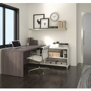 Pro-Linea 120885-47 L-Desk, White & Bark Grey