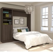 "Nebula by Bestar 84"" Full Wall Bed Kit Including Storage Unit & Door, Antigua"