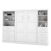"""Pur by Bestar 120"""" Full Wall Bed Kit with 36"""" Drawers & 25"""" Drawers, White"""