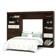 """Pur by Bestar 120"""" Full Wall Bed Kit with 36"""" Drawers, Chocolate"""
