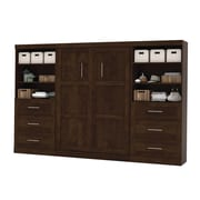 """Pur by Bestar 26896-69 131"""" Full Wall Bed Kit, Chocolate"""