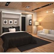 Versatile by Bestar 70'' Queen Wall bed, White