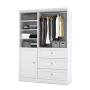 """Versatile by Bestar 61'' Classic Kit with 36"""" Drawers & a 25"""" Door, White"""