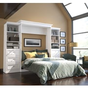 Versatile by Bestar 115'' Queen Wall Bed Kit with 6 Drawers, White