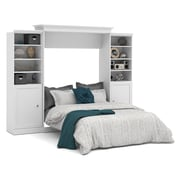 Versatile by Bestar 115'' Queen Wall Bed Kit with 2 Doors, White