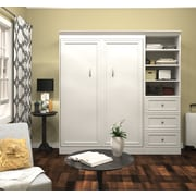 Versatile by Bestar 84'' Full Wall Bed Kit with 25'' Storage & Drawers, White