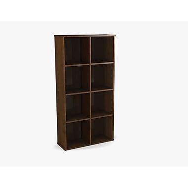 Dayton by Bestar Cubby Bookcase, Chocolate
