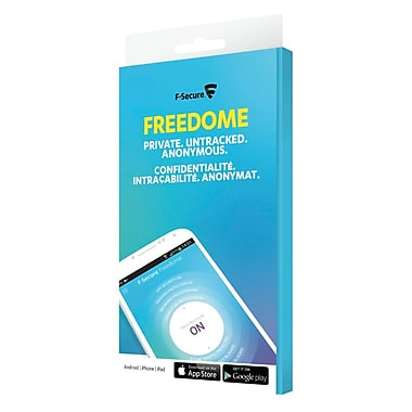 F-Secure Freedome VPN for Android and iOS, 3-User, 1 Year Subscription