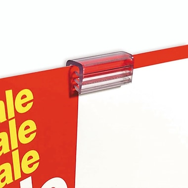 IDL Displays Supergrip Grip-Strip Sign Holder, 50/Pack
