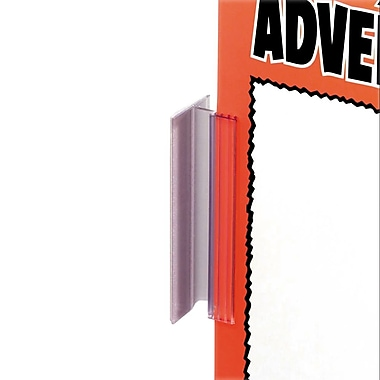 IDL Displays Supergrip Swing Hinge Sign Holder with Adhesive, 50/Pack