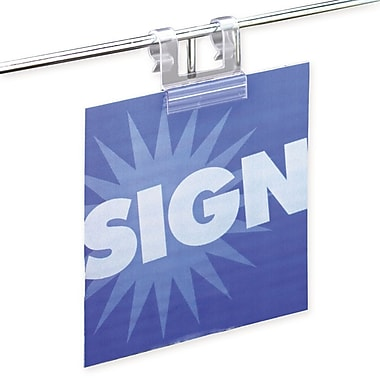 IDL Displays Supergrip Wire Basket Sign Holder, 50/Pack