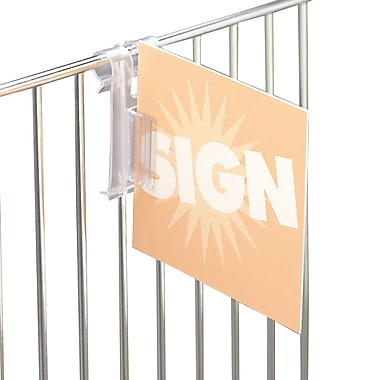 IDL Displays Supergrip Wire Basket Flag Sign Holder, 50/Pack