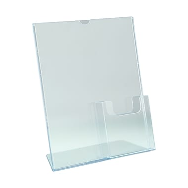 IDL Displays Tru-Vu Combo Literature Holder with Brochure Pocket, 2/Pack
