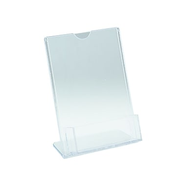 IDL Displays Tru-Vu Easel Style Literature Holder with Business Card Pocket, 4